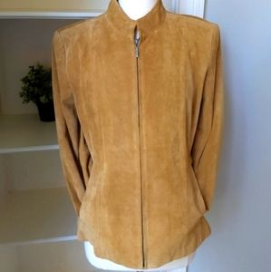 Suede Leather Jacket 10/12 Preston & York